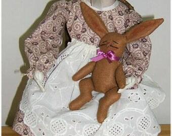Judi Ward Original Design - Prissy Prims ~ Cloth Doll  Making E-Pattern - Download Sewing Pattern