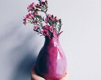 Ceramic pomegranate, Handmade vase