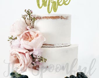 Wild and Three Cake Topper, Glitter Cake Topper, Cake Topper, Glitter Topper, Tribal Cake Topper, Boho Cake Topper, Wild and Three