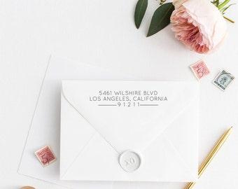 Custom Return Address Stamp, Self Ink Return Address Stamp, Personalized Address Stamp, Calligraphy Address Stamp Return Address Stamp No5