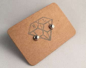 Sterling Eco Silver Pebble Stud Earrings - Eco Jewellery, Eco Silver Studs