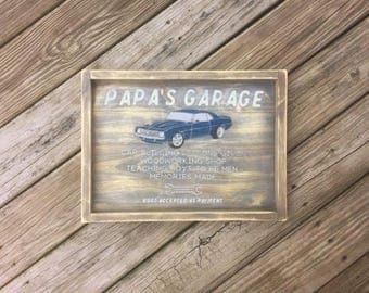 Garage Wood Sign