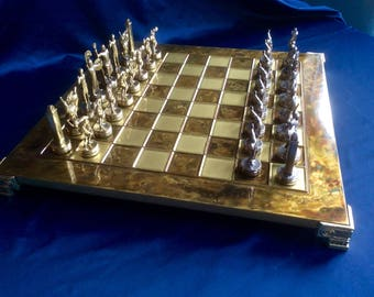 Vintage Manopoulos Chess Set