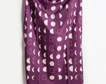 Moon Tea Towel, Moon, Tea Towel, Phases of Moon, Moon Home Decor, Moon, Purple Decor, Kitchen Decor, Berry, Hostess Gift, Gift under Twenty