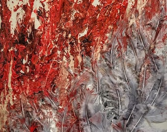 Interior/Exterior (Blood Flood)  24x36″