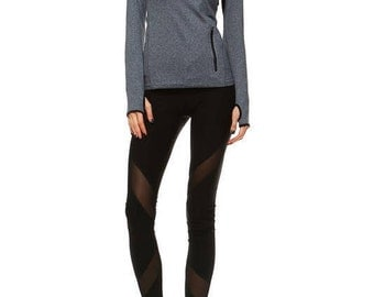 Activewear Jacket with Hoodie - Grey