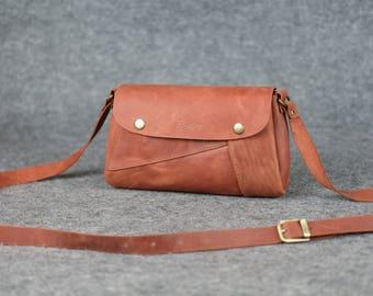 "Leather ""Frankie""  bag / Crossbody bag, Women's leather bag, Leather crossbody bag, Leather purse, Handmade, Leather bag, Shouder bag, Gift"