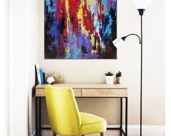 ORIGINAL PAINTING 48x36In. Large Abstract Painting Abstarct Art Original Art Absrtact Painting Wall Art Canvas Art Modern Art Oil Painting