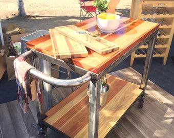 Vintage industrial Bar cart or Kitchen island