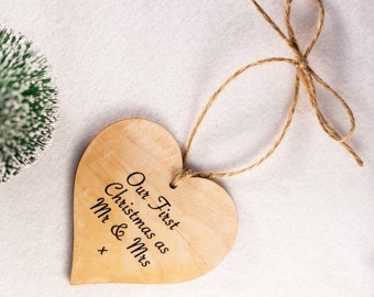 Our First Christmas Ornament,  Mr & Mrs Bauble, First Christmas, Tree Decoration, Our First Christmas, 1st Christmas, Christmas Decor
