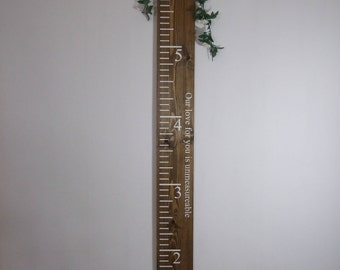"""70"""" Height Ruler, Ruler, Growth Ruler, Growth Chart, Height Chart, Family Ruler, Rustic, Wooden, Personalised, Personalized, Kids bedroom"""
