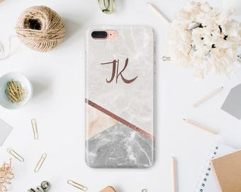 iPhone 7 Monogram Case iPhone 7 Plus Case iPhone 6 iPhone Personalized Case 6s Phone iPhone X Marble 6s Plus Case iPhone 6 Plus Cover WA1018