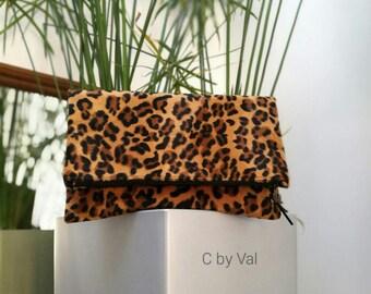 Hand - Havana - faux fur bag - printed Leopard - FRANCE