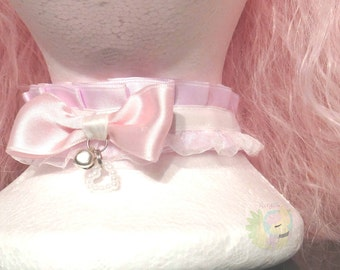 Pink Kitten Play Collar Lolita