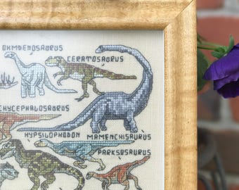 RESERVED FOR CHRISTINA  One Of A Kind Dinosaur Needlepoint