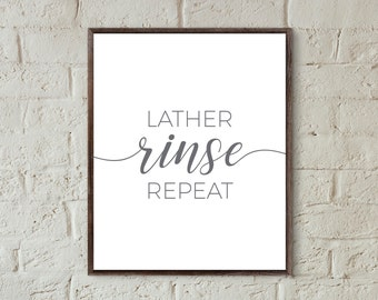 quote prints bathroom lather rinse repeat bathroom wall art grey prints for bathroom farmhouse decor bathroom wall art printable downloads