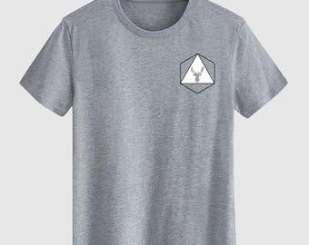 White deer Unisex T shirt T Shirts For Men T Shirts For Women T Shirt For Youth Street T-shirts Hipster T Shirt Customize Gift T Shirt