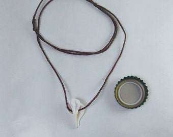 Spiral Shell Cross Section Pendant Necklace