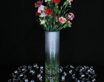 Wedding Vase Centerpiece, Wedding Vases, Wedding Centerpiece, Wedding Centerpieces for Tables, Tall Vase, Flower Vase, Glitter Vase, Glitter