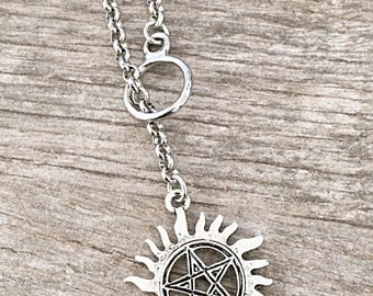 Supernatural Anti-possession Charm Lariat Necklace