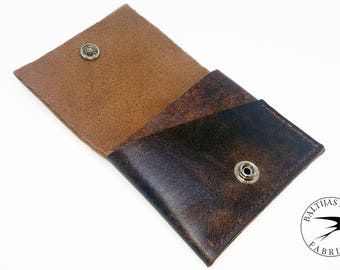 Leather Wallet for Credit Cards and Cash Crazy Horse Leather Wallet