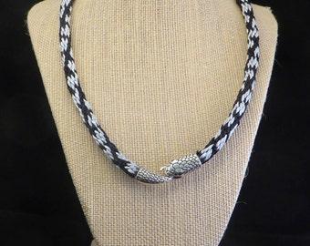 Rattlesnake Kumihimo  Necklace
