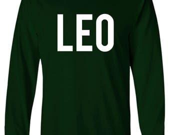 Leo Zodiac Unixes Men and Women Long Sleeve Shirt
