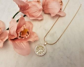 tree of life, tree-of-life, tree of life necklace, family tree, gift for her, gift for mum, family tree necklace, tree of life pendant