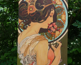 Primrose - Painting Acrylic - Artwork Picture - Reproduction - Alfons Mucha - by Christine Cibois French Artist