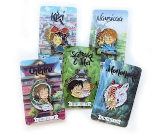 Girls Of Ghibli Enamel Pin Set