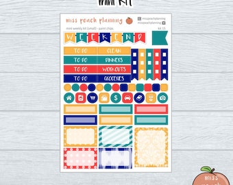 mini weekly kit || weekly sticker kit || planner stickers || kit15