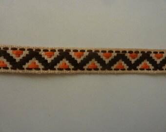 4 m stripe cotton and wool background ecru geometric designs