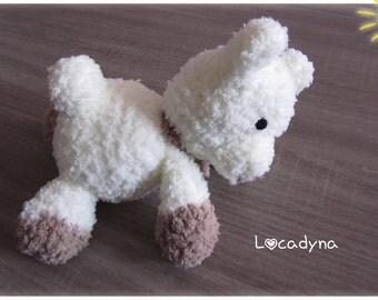 Amigurumi Crochet Teddy bear plush - Polyester off white and Beige-all soft nursery-child-birthday gift - handmade - My Name is Pipotin