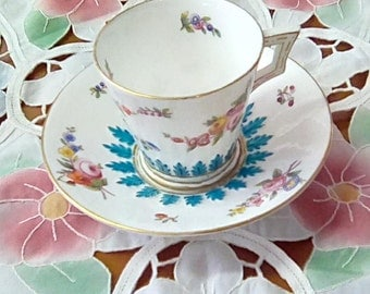 Delightful Cabinet cup and saucer, quite possibly unmarked Minton. c.1890-1910
