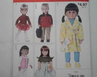 McCALL'S  Pattern M9047 Fits American Girl & Boy other 18 inch dolls