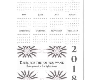 2018 Large Full Year Wall Calendar Dress for the Job You Want