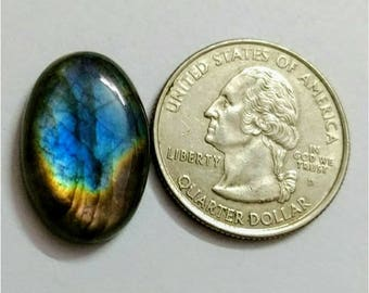 22.35 x 14.95 mm,Ovel Shape Labradorite Cobochon/Blue Brown  Flash/wire wrap stone/Super Shiny/Pendant Cabochon/rare bi colour labradorite