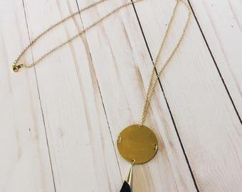Full Moon Tassel Necklace | Tassel Necklace | Statement Necklace