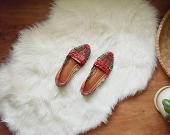 Vintage Flats Leather Woven DIFFERENT OPTIONS