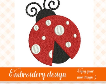 Lady bug embroidery design embroidery machine digital download lady bug digitizing embroidery