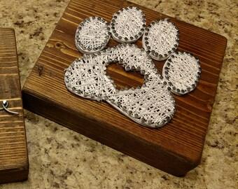 Handmade paw print string art