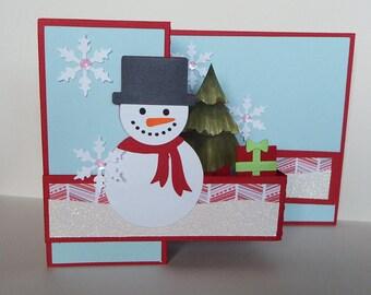 Snowman Z-fold card