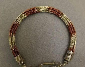 Viking Wire bracelet - Bronze & Silver