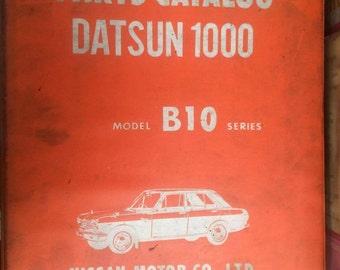 Parts Catalog Datsun1000 Model  B10 Series