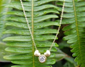 3 Charm gold filled necklace