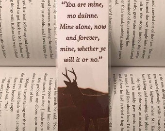Outlander Bookmark (You are mine, mo duinne...)