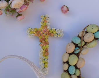 Christening basket etsy easter basket giftbaptism wall cross baptism gift boy girl personalized wall cross negle