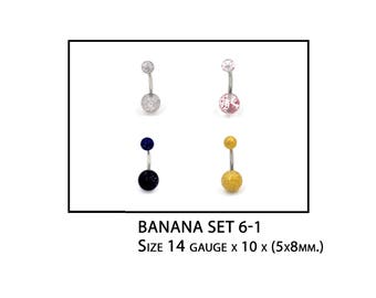 sparkling belly banana trendy style   4 in 1