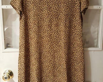 Vintage Shirt Dress Cheetah Print