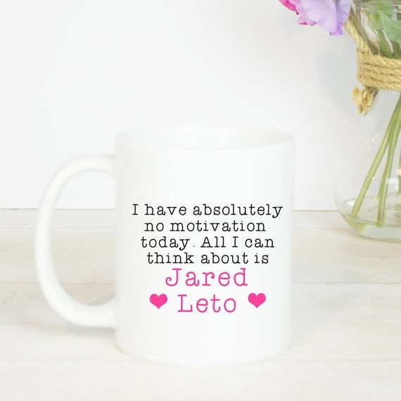 Jared Leto and Chocolate mug, lovely birthday gift for anyone who loves Jared Leto, from my so called life to the joker